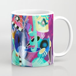 Night life, Wassily Kandinsky inspired geometric abstract art Coffee Mug