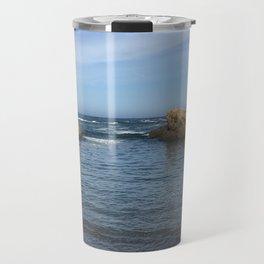 Fort Bragg ocean with rocks Travel Mug