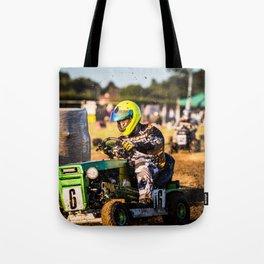 Lawnmower Race Tote Bag