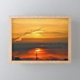 Sunset Horizon Framed Mini Art Print