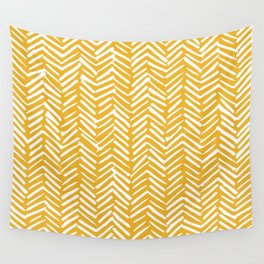 Boho Mudcloth Pattern, Summer Yellow Wall Tapestry