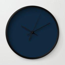 Understated Luminary ~ Navy Blue Wall Clock