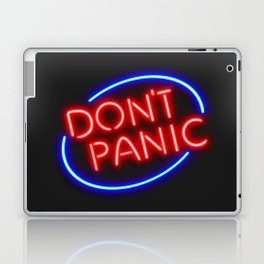 """Hitchhiker's Guide - """"Don't Panic"""" Neon Sign Laptop & iPad Skin"""