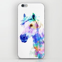 Horse Watercolor, Horse Print, Watercolor Print, Watercolor Animal, Horse Painting, Horse Gift Print iPhone Skin