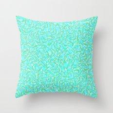 Boomerang Aqua Throw Pillow