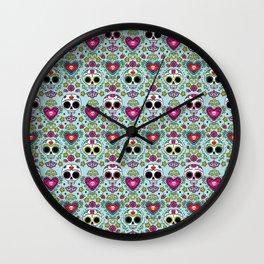 Dia De Los Muertos Calaveras Wall Clock