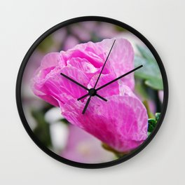 Pink Musk Mallow Rolled-up Wall Clock