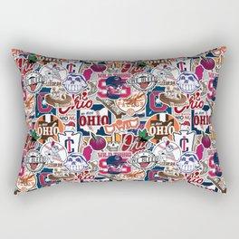 Cleveland Sticker Wall Rectangular Pillow