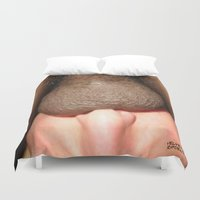 cunt Duvet Covers featuring funny painting BBC BDSM fetish Big dick cock suck oral sex pussy cunt transgender anal balls fuck  by Velveteen Rodent