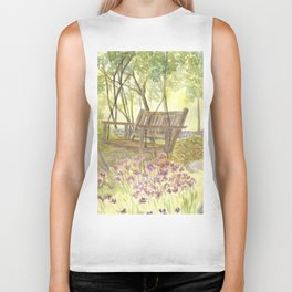 Bedrock Garden Spring on In and Out Pathway Biker Tank