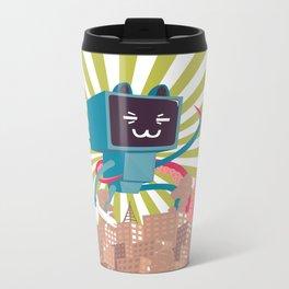 Go Go Mecha Kitty Metal Travel Mug