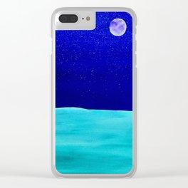 moonlit plains Clear iPhone Case