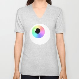 Lovely Sparkly Rainbow Eyeballs Unisex V-Neck