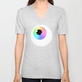 Lovely Sparkly Rainbow Eyeballs Unisex V-Neck
