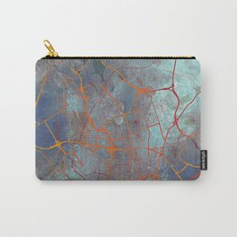 Frankfurt Germany Street Map Art Watercolor Apocalyptic Carry-All Pouch