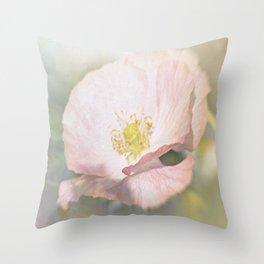 Light pink Flower Throw Pillow