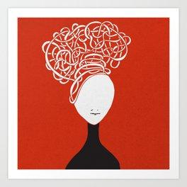 Iconia Girls - Hanna Red Art Print