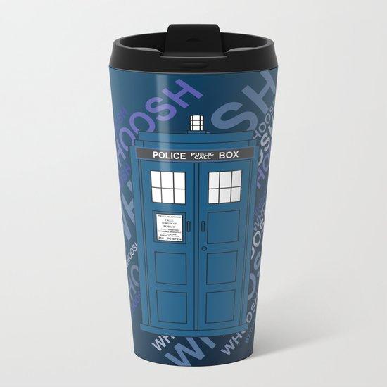 Tardis Whoosh sound Doctor Who Metal Travel Mug