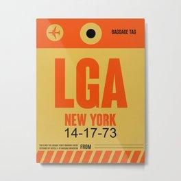 LGA New York Luggage Tag 1 Metal Print