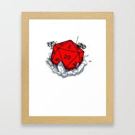 Gamer Dungeon RPG dice tabletop funny gift Framed Art Print