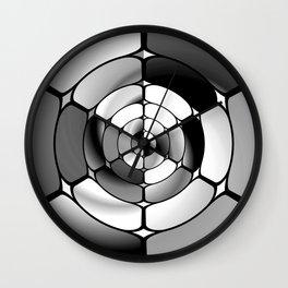 Chromed black and white Wall Clock