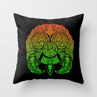 samus Throw Pillows featuring samus by Sixtybones