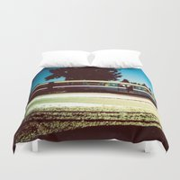 train Duvet Covers featuring Train by Ibbanez