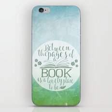 Between the Pages of a Book - Green Spring iPhone & iPod Skin