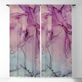 Pink ink Blackout Curtain