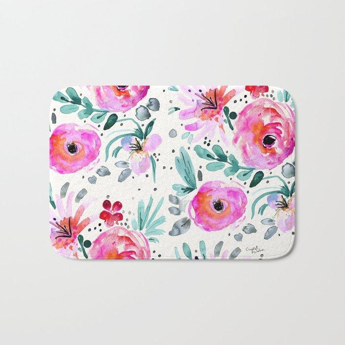 Colby Floral Bath Mat