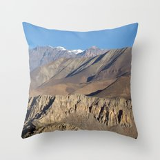 Scenery from Road to Jomsom Throw Pillow