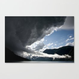 There's a storm brewing! Canvas Print