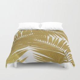 Palm Leaf Gold III Duvet Cover