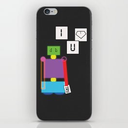 Robot in Love iPhone Skin