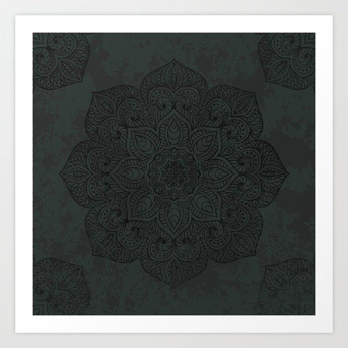 Vintage Mandala Art Print