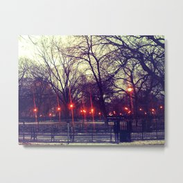 Flare In The Park: Tompkins Square Metal Print