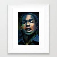 asap rocky Framed Art Prints featuring Asap, long live Rocky by Michaëlis Moshe