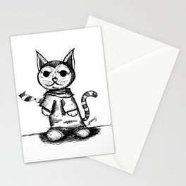 hipster cat Stationery Cards