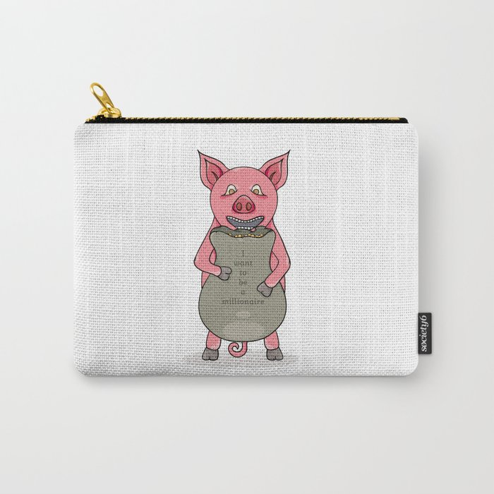 pig and bag with gold coins Carry-All Pouch