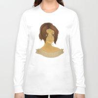 shingeki no kyojin Long Sleeve T-shirts featuring Hanji Zoe - Shingeki no Kyojin by Artsy Anna