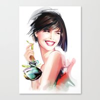 perfume Canvas Prints featuring perfume by tatiana-teni