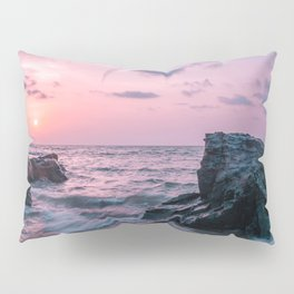 Ocean landscape at sunset Pillow Sham
