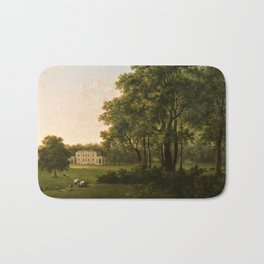 Classical Masteripiece 'A View of the South Front of Bower House, Havering-atte-Bower' by Abraham Pe Bath Mat