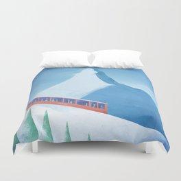 Ski Zermatt Duvet Cover
