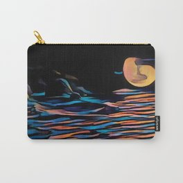 Moon over Beach Carry-All Pouch