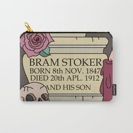 Remember Bram Stoker - Golders Green Crematorium - Dracula Carry-All Pouch