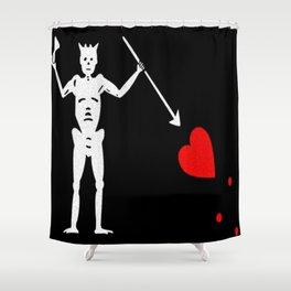 Blackbeard's Flag Shower Curtain