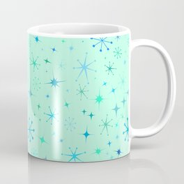 Atomic Starry Night in Mod Mint Coffee Mug