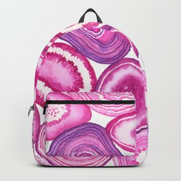 Pink agate watercolor Backpack