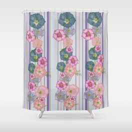 Dahlia Morning Glories Shower Curtain